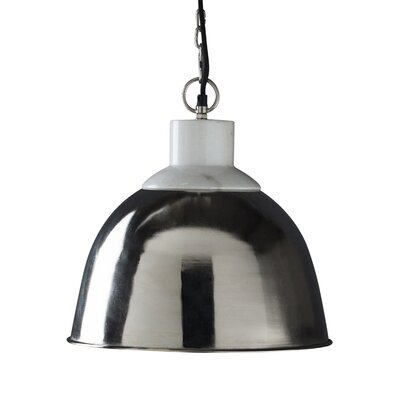 Blaine 1-Light Pendant Light Shade Color: Nickel