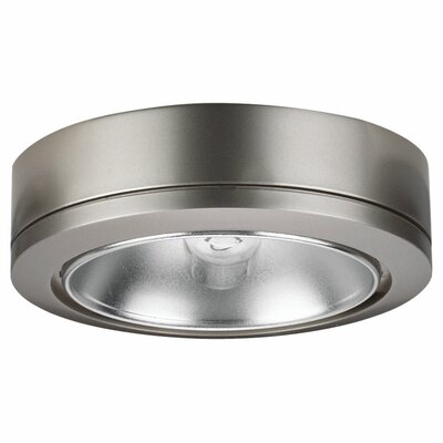 Fluorescent Under Cabinet Puck Light Finish: Brushed Nickel