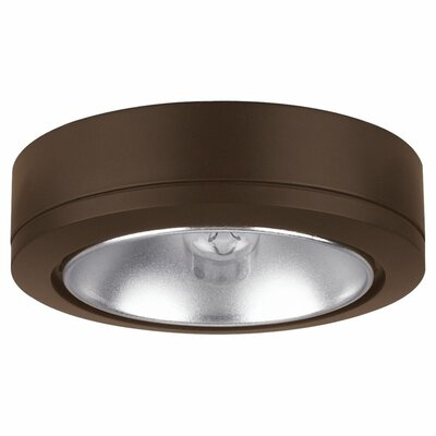 Fluorescent Under Cabinet Puck Light Finish: Painted Antique Bronze