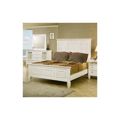 Lease to own Glenmore Panel Bed Size: Queen...