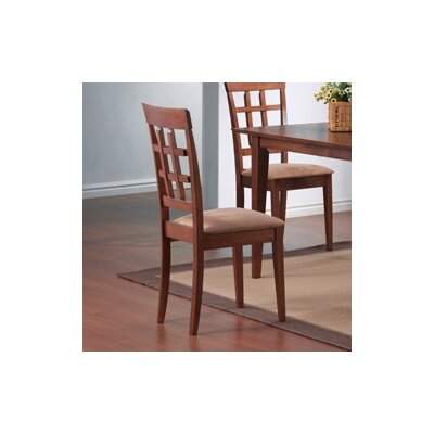 Low Price Wildon Home Crawford Side Chair Set Of 2 Finish Walnut
