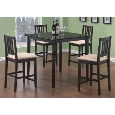 Cheap Wildon Home Adrian 5 Piece Counter Table Set in Cappuccino (CST2092)