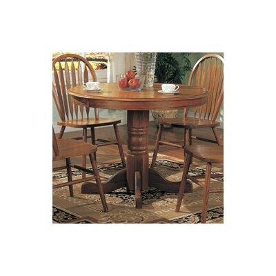 Wildon home molina round dining table in light oak for Wildon home dining