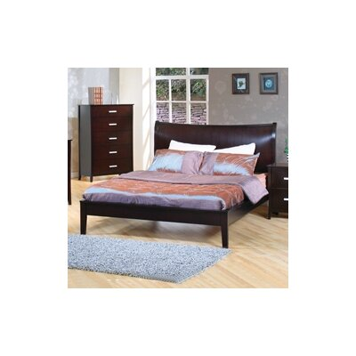 Queen on Wildon Home Newport Queen Platform Bed In Cappuccino