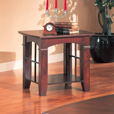 Cheap Wildon Home Brentwood End Table with Wood Top in Cherry (CST3102)