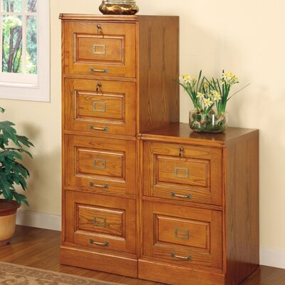 Picture Of Wildon Home Paulina Four Drawer File Cabinet In Oak In Large Size