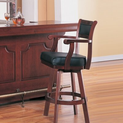 Rent to own Tiernan Bar Stool with Swivel Leath...