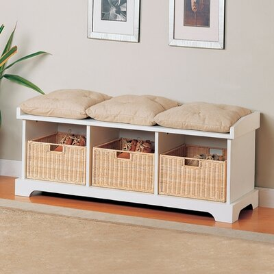Wildon Home ® Somerton Wooden Entryway Storage Bench | Wayfair
