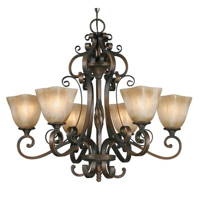 Sharlene 6-Light Shaded Chandelier