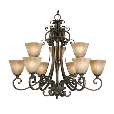 Sharlene 9-Light Shaded Chandelier