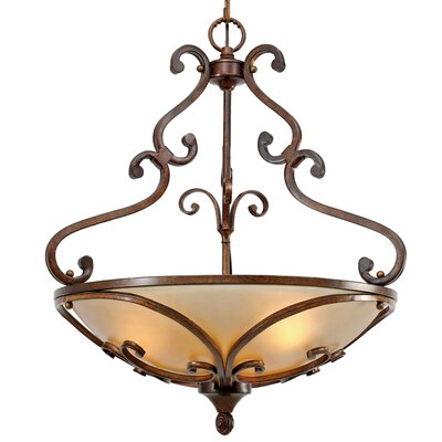 Fortier 3-Light Bowl Pendant