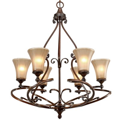 Fortier 6-Light Shaded Chandelier