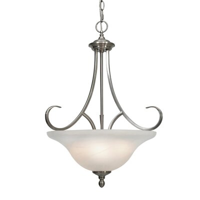 Newson 3-Light Bowl Inverted Pendant Finish: Pewter