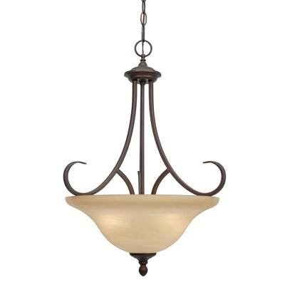 Newson 3-Light Bowl Inverted Pendant Finish: Rubbed Bronze