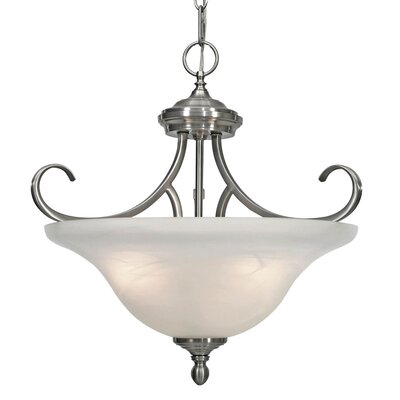 Alberta 3-Light Convertible Inverted Pendant Finish: Pewter