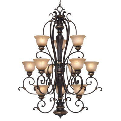 Cartleton 12-Light Shaded Chandelier