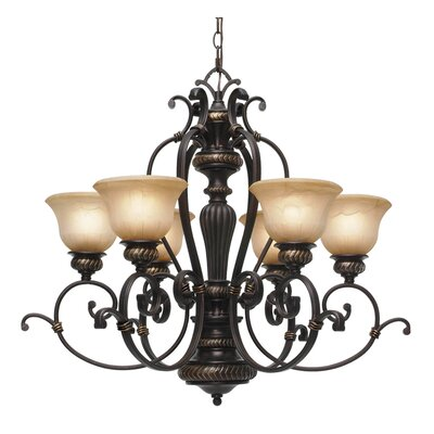Cartleton 6-Light Shaded Chandelier