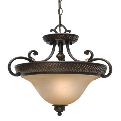 Cartleton 3-Lights Convertible Semi Flush Mount