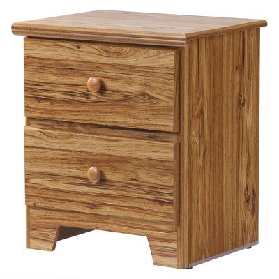 Shaker 2 Drawer Nightstand Color: Hickory