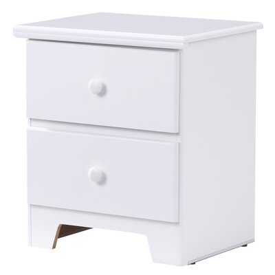 Shaker 2 Drawer Nightstand Color: White
