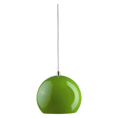 Partida 1-Light Pendant Shade Color: Glossy Green