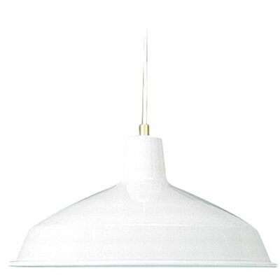 Studio 1-Light Mini Pendant Finish: White