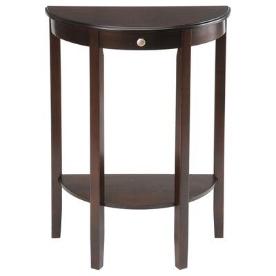 Cheap Wildon Home Half Moon Round Hall Table in Espresso (CST4860)