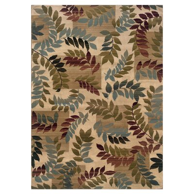 Gannaway Beige/Gold Area Rug Rug Size: Rectangle 32 x 55