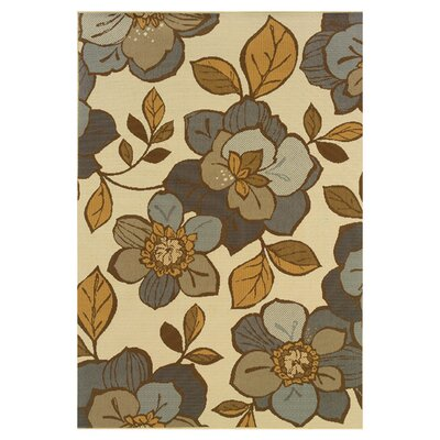 Milltown Ivory/Grey Indoor/Outdoor Area Rug Rug Size: 37 x 56
