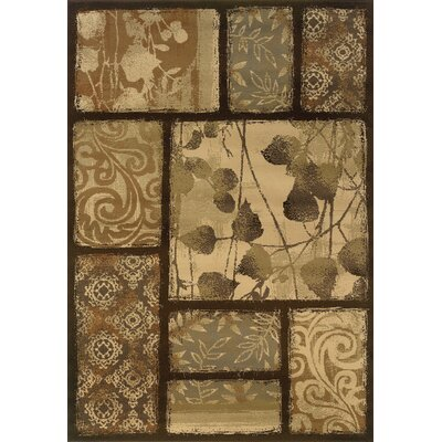 Harper Brown/Tan Area Rug Rug Size: 53 x 73