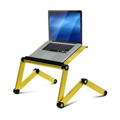 Vented Laptop Table / Portable Bed Tray Book Stand Finish: Gold CST26529 26083072