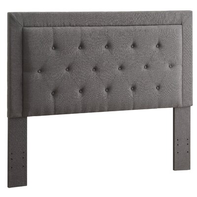 Clayton Upholstered Panel Headboard Size: Full / Queen, Upholstery: Charcoal