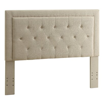 Clayton Upholstered Panel Headboard Size: Full / Queen, Upholstery: Natural
