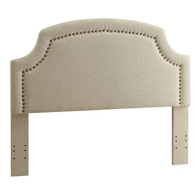 Degraffenreid Upholstered Panel Headboard Size: King, Upholstery: Light Beige