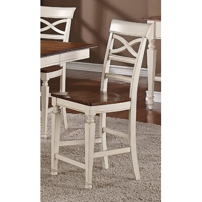 Bar stool (Set of 2) Finish: White