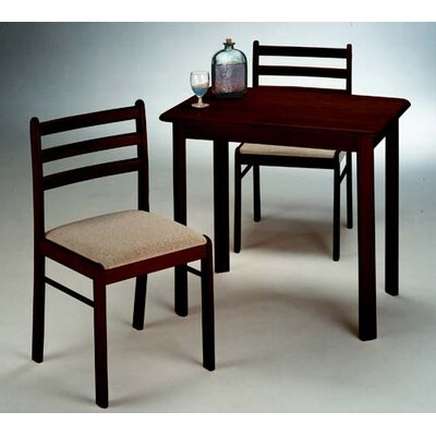 3 Piece Bistro Set Finish: Espresso