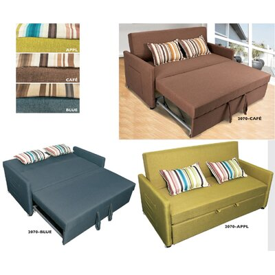 Wildon Home 2070-BU  Pull Out Sleeper Sofa