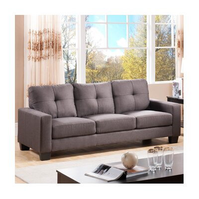3 Seater Sofa Upholstery: Charcoal Grey