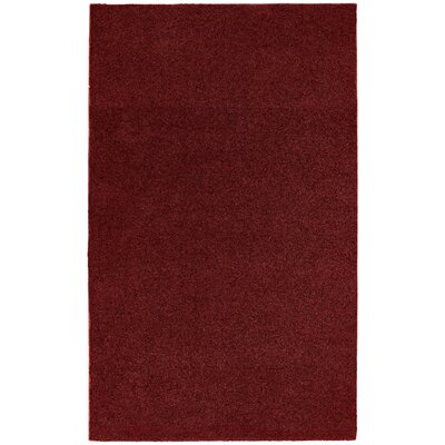 Brennda  Bath Rug Size: 60 x 72, Color: Burgandy