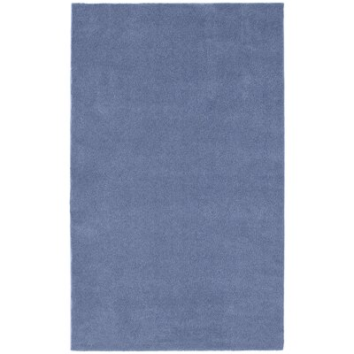Brennda  Bath Rug Size: 60 x 72, Color: Basin Blue