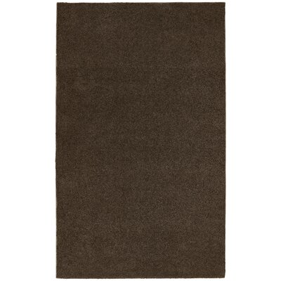 Brennda  Bath Rug Size: 60 x 72, Color: Chocolate