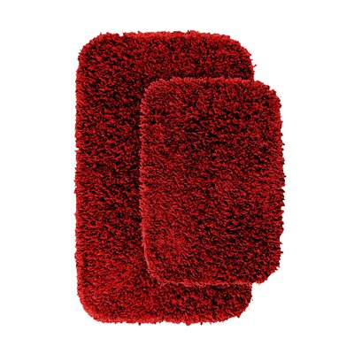 Devie 2 Piece Blue Bath Rug Set Color: Chili Pepper Red