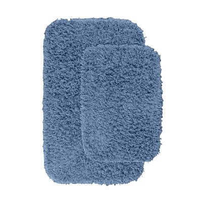 Devie Blue Bath Rug Set Color: Basin Blue