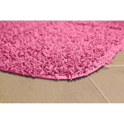Devie Blue Bath Rug Set Color: Pink