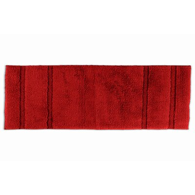 Brenndah  Bath Rug Color: Chili Pepper Red, Size: 24 x 40
