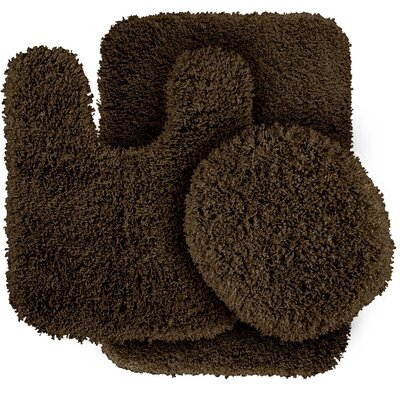 Breonna  Bath Rug Color: Chocolate