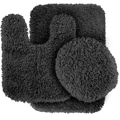 Breonna  Bath Rug Color: Dark Gray
