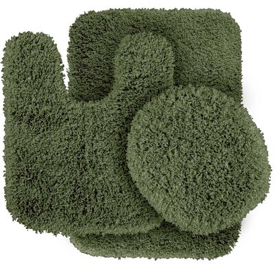 Breonna  Bath Rug Color: Deep Fern