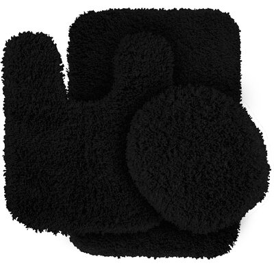 Breonna  Bath Rug Color: Black