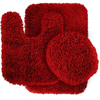Breonna  Bath Rug Color: Chili Pepper Red
